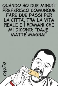 Salvini, professione food blogger